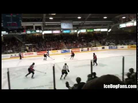 "Niagara IceDog fans yelling out ""WHO CARES!""..."