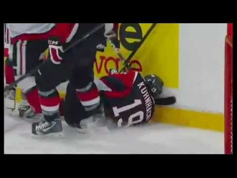 OHL player kicked in the head!!